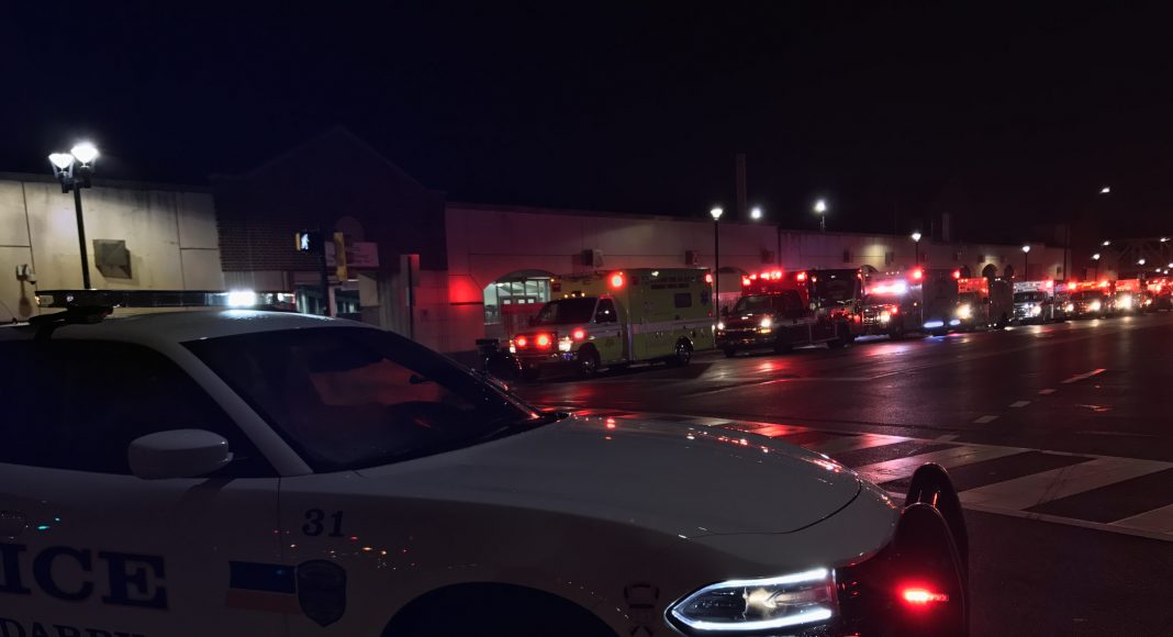 First responders on location at the 69th Street Terminal in Upper Darby following a train crash in a Philadelphia suburb. (PHOTO: YC.NEWS/NEWS SHARE/NIK HATZIEFSTATHIOU)