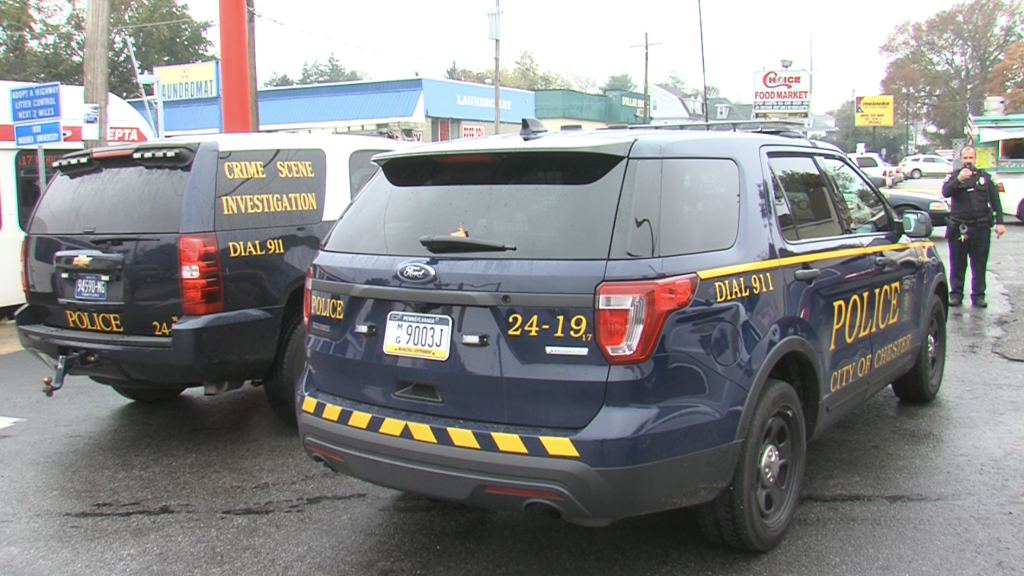 City of Chester Police Crime Scene Investigation & police cruiser. (yc.news/file photo)