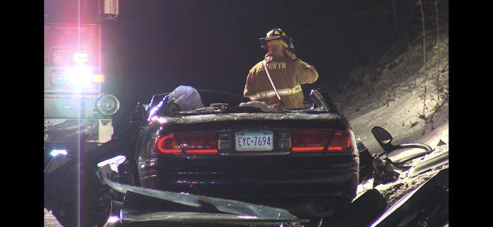 Major car accident in Bethel Township, Delaware County. (YC.NEWS PHOTO/NIK HATZIEFSTATHIOU)