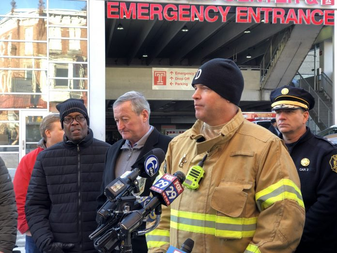 Distinguished Philadelphia Firefighter dies after he's trapped inside home for 30 minutes. (YC.NEWS/NIK HATZIEFSTATHIOU)