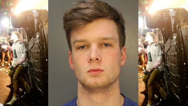 John Rigsby of Malvern, Pa. accused of flipping car during Eagles Super Bowl Victory Celebrations in Center City Philadelphia. (PHOTO/PHILADELPHIA POLICE)