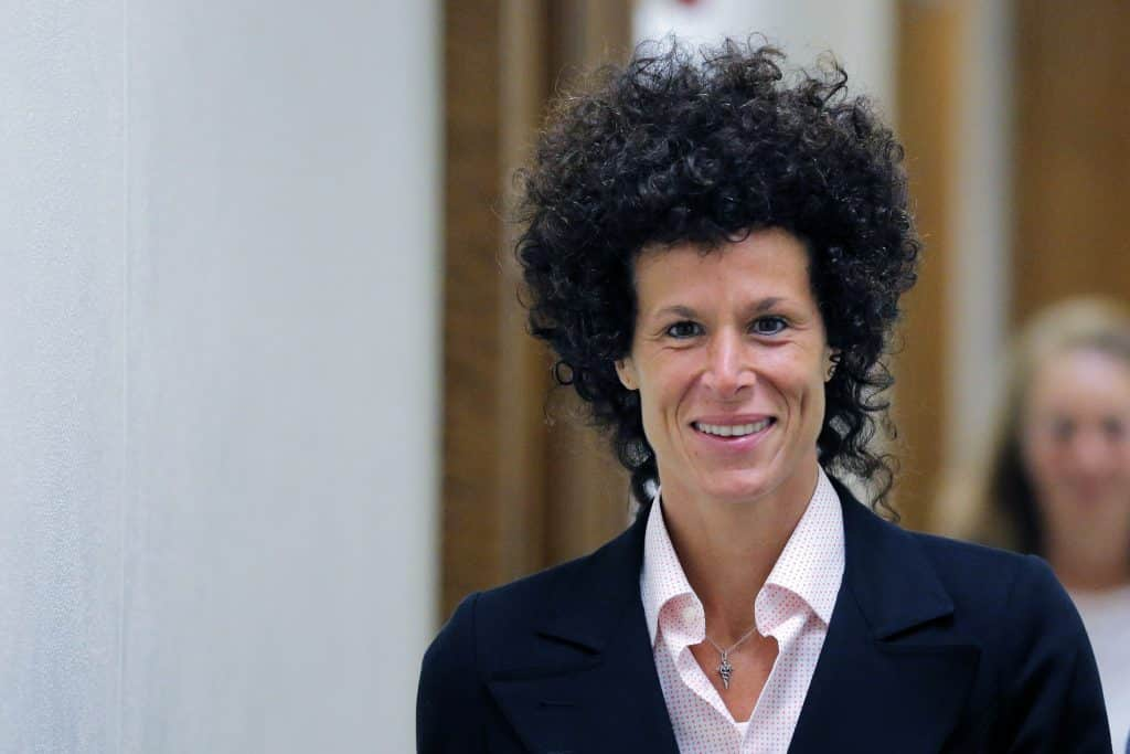 NORRISTOWN, PA - JUNE 16: Accuser Andrea Constand departs the courtroom after her testimony in Bill Cosby's sexual assault trial at the Montgomery County Courthouse in Norristown, Pennsylvania. (Photo by Lucas Jackson-Pool/Getty Images)