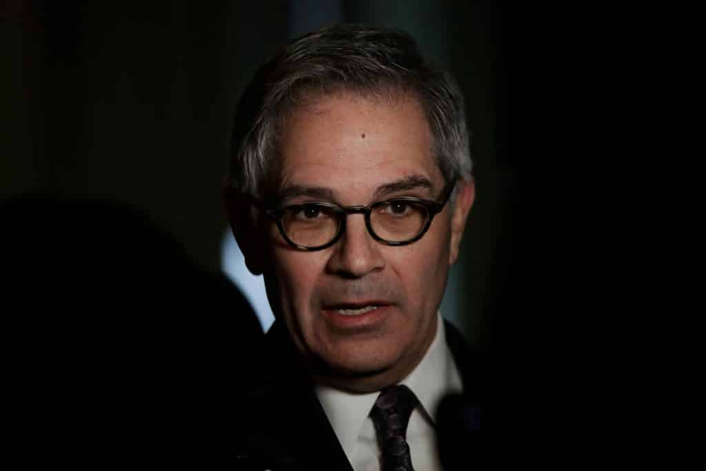 Photo by Matt Rourke/AP/REX Philadelphia District Attorney Larry Krasner speaks with members of the media during a news conference in Philadelphia Juvenile Justice, Philadelphia, USA (06 Feb 2019).