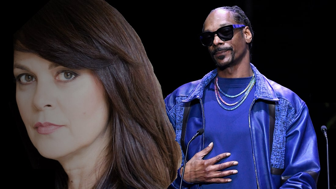 Delaware County District Attorney Katayoun Copeland (left) & rapper Snoop Dogg (right). Photo by: © Getty Images/Delaware County District Attorney's Office Montage