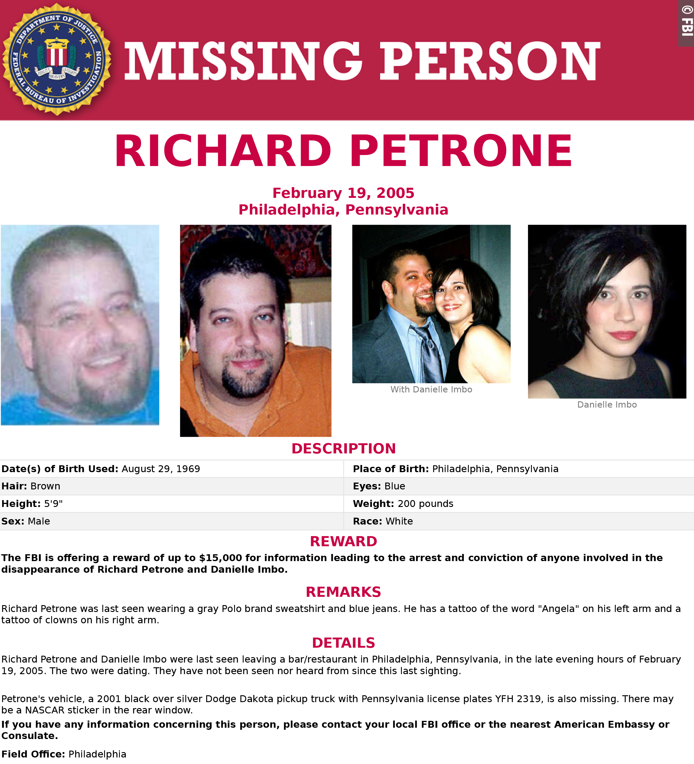 FBI seeking information in 15-year-old disappearance of Philly couple