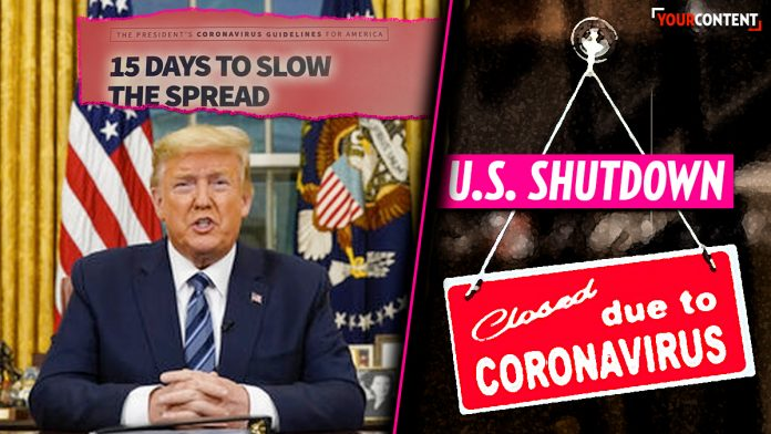 President Trump declares groups of ten or more to stop; U.S. shuts down » Your Content