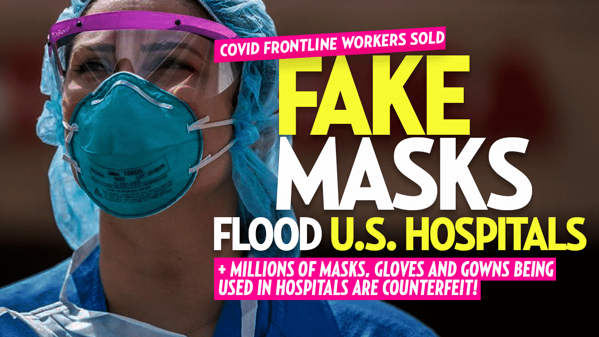 US Hospitals Sold Fake Masks That Don't Protect Against COVID