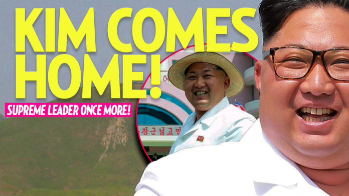 Kim Jong-un Comes Home from Vacationing After Failed Heart Surgery, Makes Public Appearance