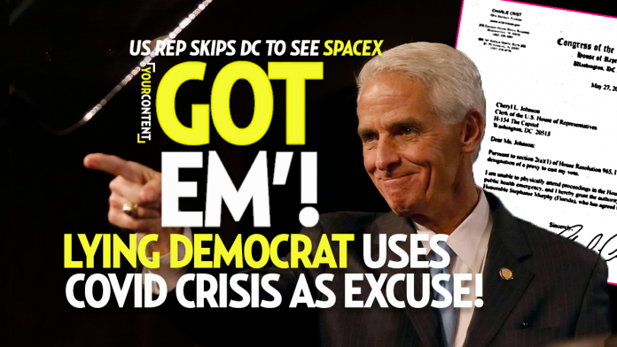 Florida Congressman Crist Writes Phony Absentee Letter to Watch SpaceX's Cancelled Launch