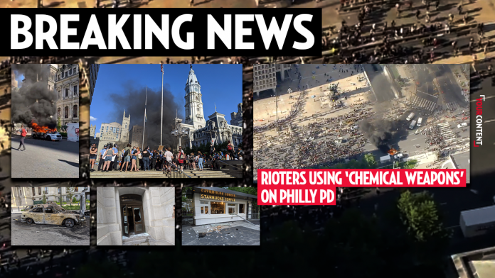 Philly Under Attack by Rioters, 2,000 People Storm City Hall to Set Fire: Police Hit with Chemical Weapons