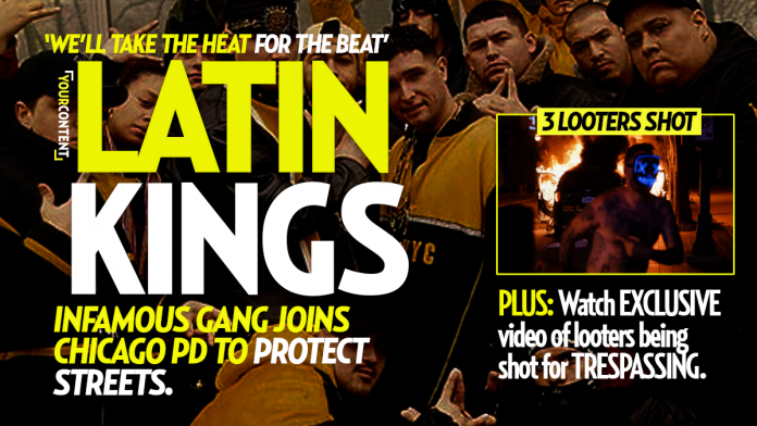 Latin Kings Join Chicago PD to Protect Streets During Riots, Looters FLEE After Gang Shoots 3