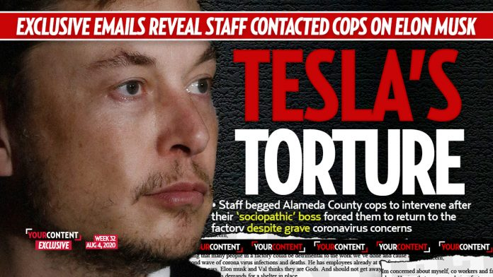 Tesla Employees Turned to Cops During Elon Musk's COVID Twitter Meltdown: 'He's a Sociopath'