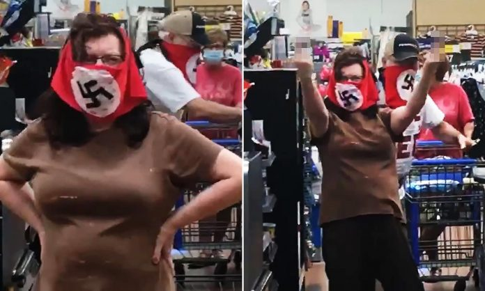 Karen-in-Chief BANNED from 11,500 Walmart Locations in 27 Countries for Wearing Racist Mask