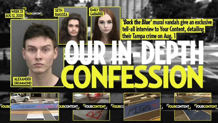 Tampa 'Back The Blue' Mural Vandals Give Your Content a Full Confession Detailing Aug. 1 Crimes