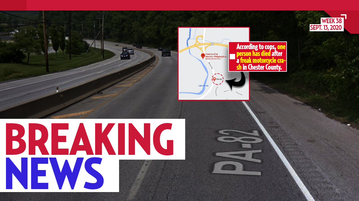 Coatesville Police Responding to Freak Motorcycle Accident, Reports of 1 Dead on Route 82 Nearby Marriott