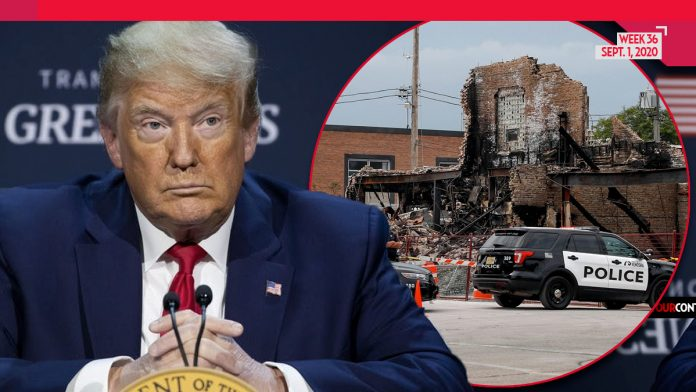 Portland Hit So Bad, Trump Pauses News Briefing to Hold PRAYER for Burning City on 104th Day of Riots