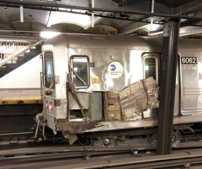 Subway derailment caused by person throwing debris onto track, investigators say