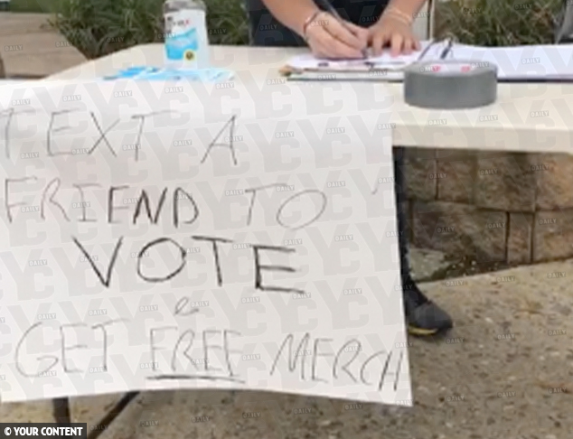 Delaware County Dems Set Up Camp Outside of Courthouse to Bribe Voters to Go with Joe Biden