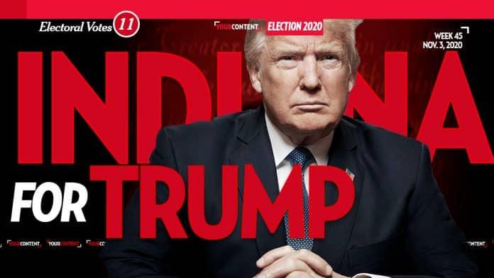 President Donald Trump Wins Indiana