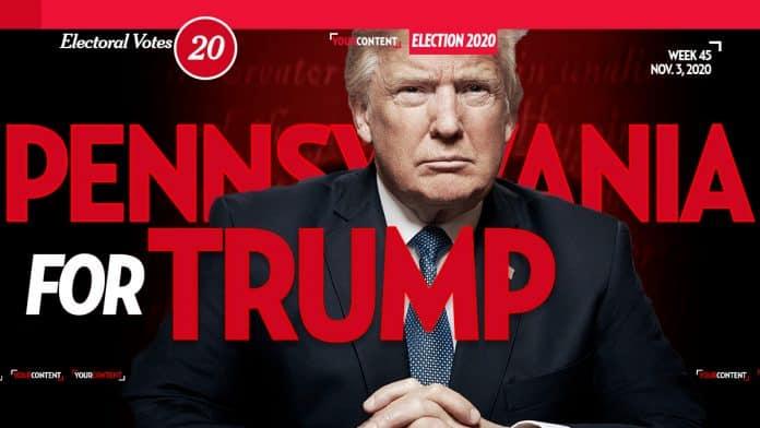 President Donald Trump Wins Pennsylvania