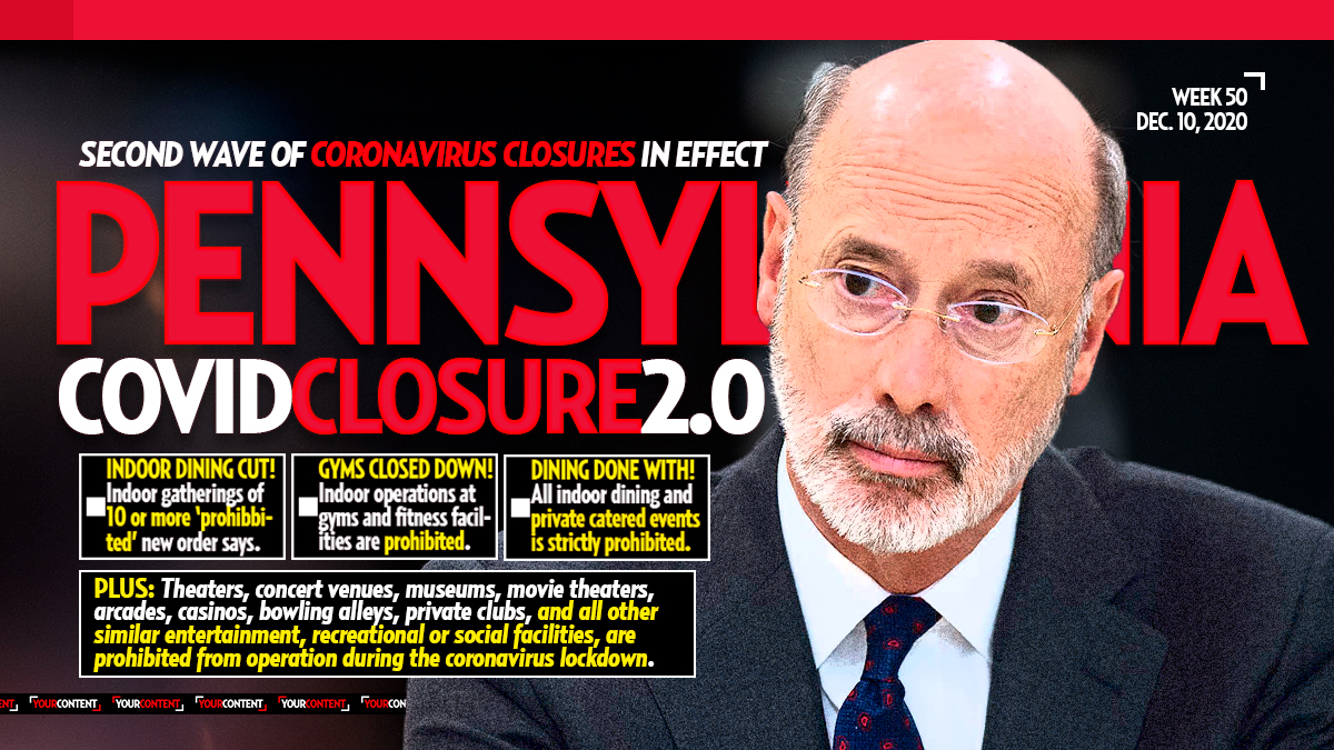 Pa. Gov. Tom Wolf Tests Negative for COVID-19 as He Announces Immediate Coronavirus Closures