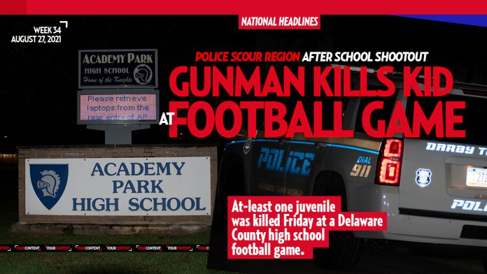 At-least 1 juvenile dead, second injured at Delco high school football shooting, suspects at-large