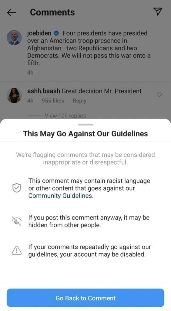 Instagram sets unprecedented censorship to protect Biden administration from 'harmful words'