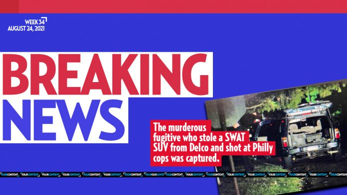 Delco fugitive who stole SWAT SUV, shot at cops, in custody at nearby ER: 'Got him, shot him.'