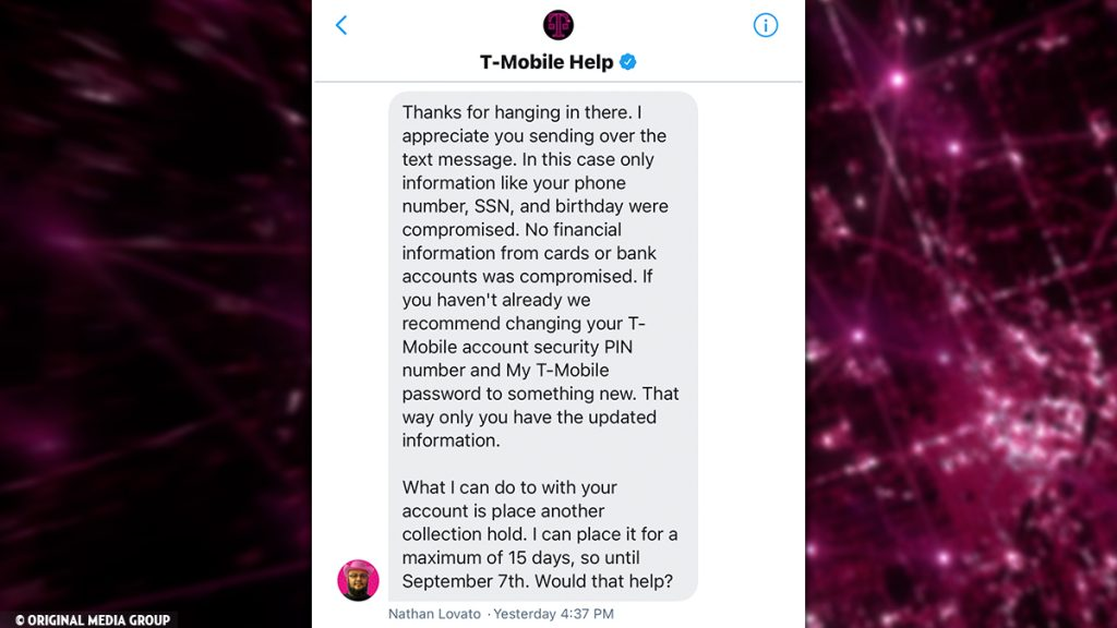 Twitter DM admits T-Mobile downplayed cyberattack with misleading text to 50 million