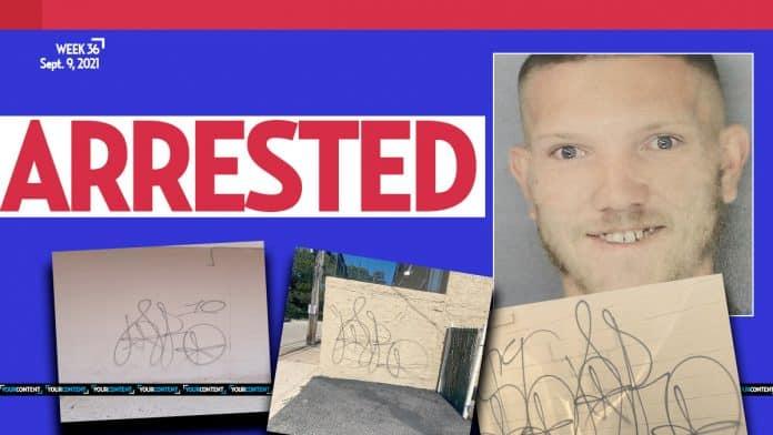 Cops in Delaware County nab unskilled graffiti vandal, Christopher Linn, 25